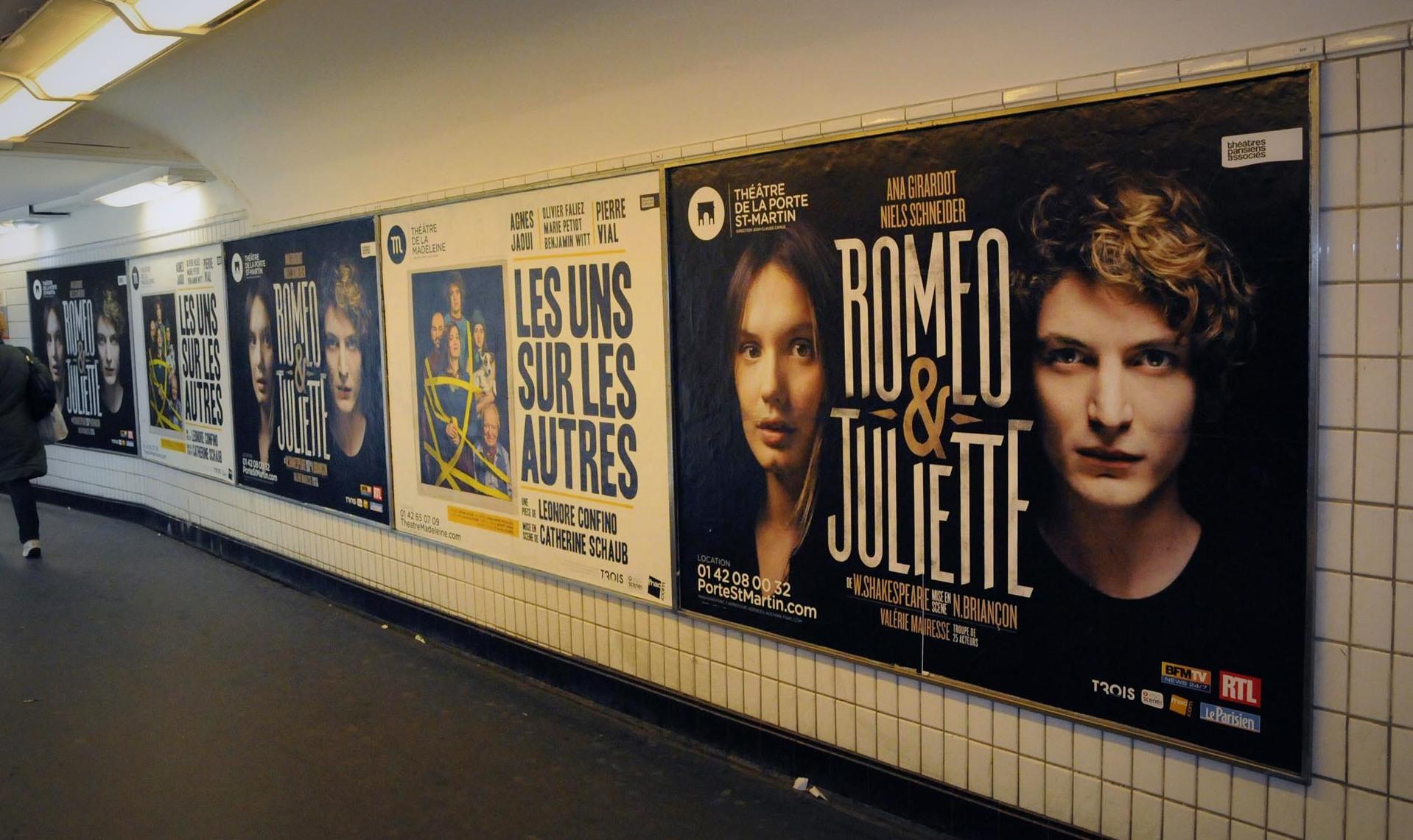 Metro Massif Couloir Cinema Diane Publicit 233